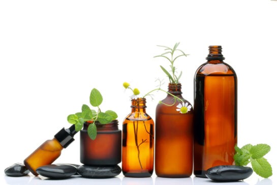 Amber bottles for Essential Oils.