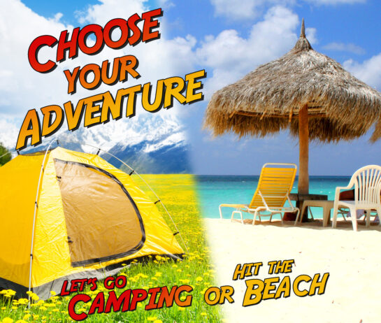beach camping sample pack skincare