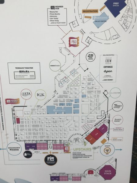 Map of ISSE 2020 salon guide