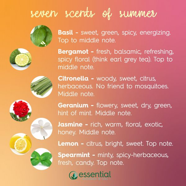 summer scents essential oil skin care