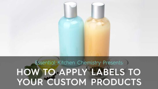 How to apply custom labels to cosmetic products.