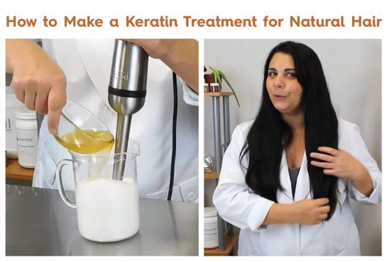how to make a keratin treatment for natural hair. step by step guide with instructions and video for DIY hair care at home!