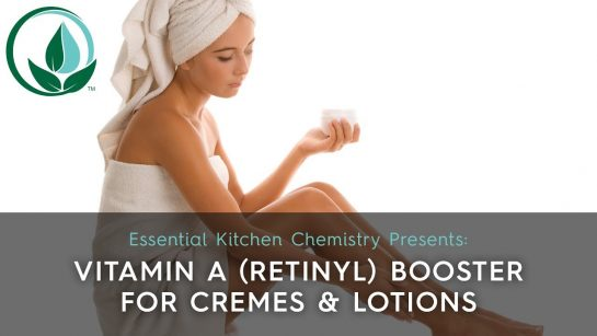 how to add vitamin a retinyl to a cream as a booster antioxidant antiaging