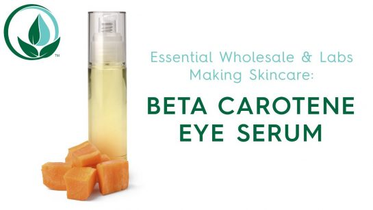 how to make a DIY beta carotene eye serum