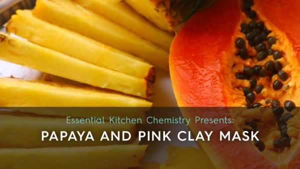 how to papaya pink clay face mask exfoliating hydrating