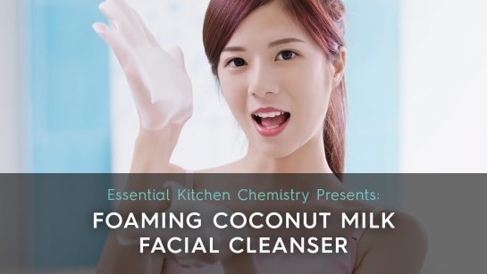 how to make foaming coconut facial cleanser DIY skin care gentle